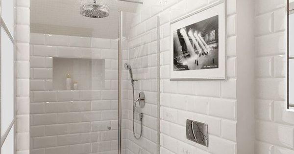 Piastrelle diamantate bianche veb bagno ospiti - Piastrella 7 5x15 bianche ...