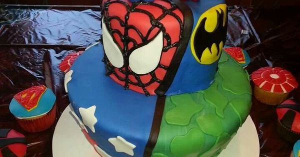 Super Hero Splits Cake Old School Power Rangers
