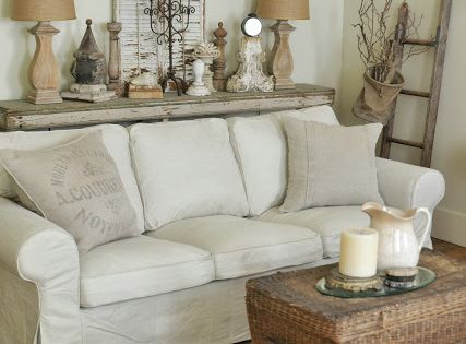 Living Room Neutral Rustic Cottage And Living Rooms On Pinterest