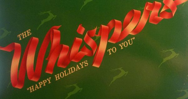 The Whispers Happy Holidays To You 33 RPM Vinyl LP