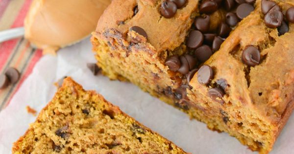 Peanut Butter Chocolate Chip Pumpkin Bread | Recipe | Pumpkins, Peanut ...