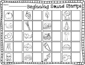 Sensational Stamps: Alphabet, rhyming, beginning, middle ...