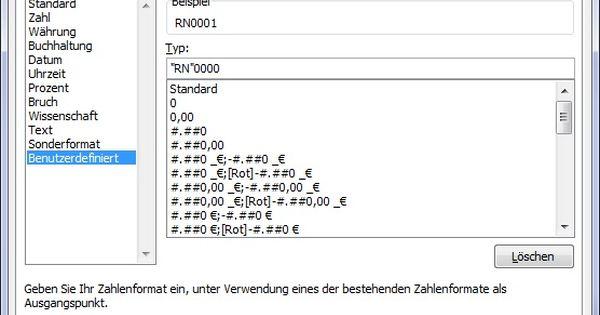 Dieses Zahlenformat Setzt Den Text Rn Mit Fuhrenden Nullen Vor Eine Zahl Lernen Excel Tipps Kenntnisse