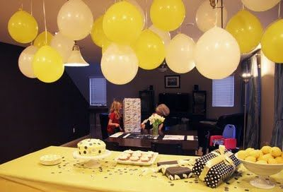 Yellow Black And White Parties Yellow Birthday Parties