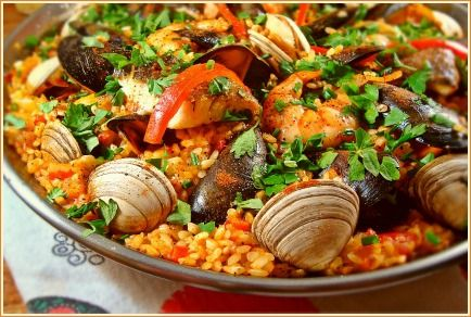 Here is a simple but traditional seafood paella recipe ...