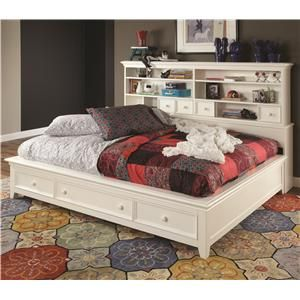 Sideways Bed With Trundle Platform Bed Sheely S Furniture