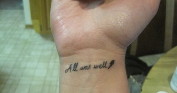 Harry Potter Harry Potter Tattoos Tattoos All Is Well