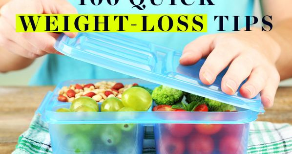 100 Quick Weight-Loss Tips - Small, simple changes can lead to major