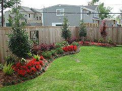 Flower Beds Along Fence Line Backyard Landscaping Designs