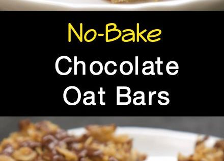 No-Bake Chocolate Oat Bars | Recipe