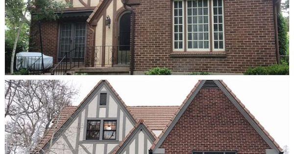 Great Exterior Update Of Tudor Home E X T E R I O R S Pinterest House Tudor Style And