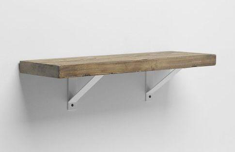 Reclaimed Wood Shelf White Basic Bracket 2 39 The