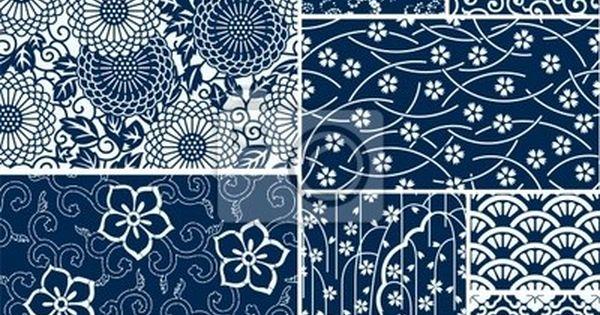 Papier peint traditionnels japonais motifs vecteur sans soudure japon pix - Papier peint motif journal ...