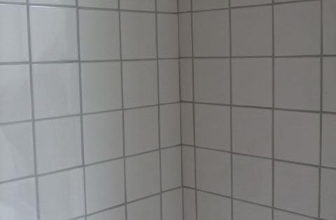 How to update that old bath tile without replacing it white tile with grey grout kids for Update bathroom tile without replacing
