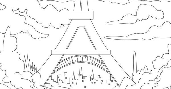 Eiffel tower tracable- coloring page for the youtube ...