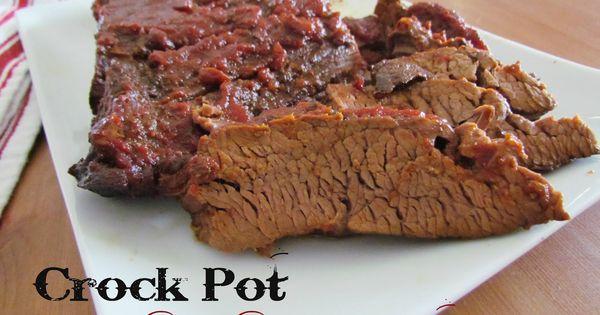 Crock Pot BBQ Beef Brisket {Slow Cooker}