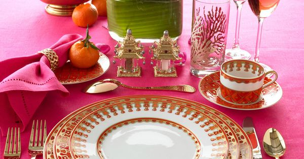 images of gorgeous tabletop place settings | Pink Table Setting By Lennoxx