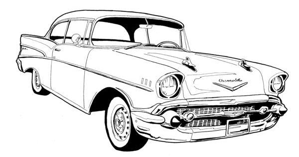 1950s car coloring pages coloring coloring pages