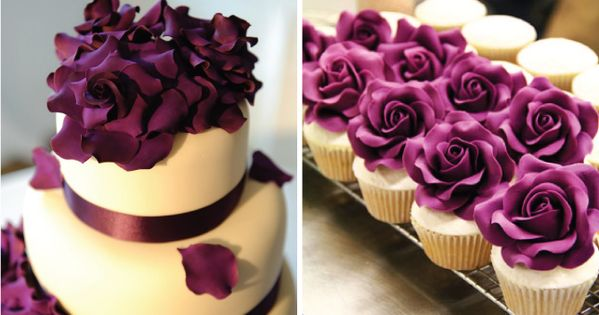#wedding purple flowers cake weddingcake - @Nancy Klevin- webstagram...maybe in a different