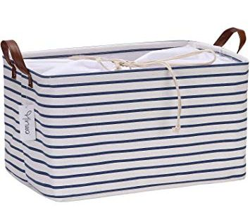 Feline Ruff Large Dog Toys Storage Box 16 X 12 Pet Toy Storage Basket With Lid Perfect Collapsible Canvas Toy Storage Baskets Dog Toy Storage Toy Storage Bins