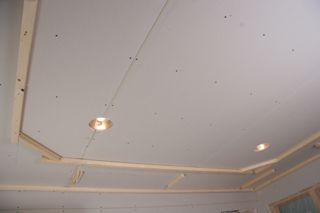 Tray Ceiling Installation For Homeowners Extreme How To Tray Ceiling House Ceiling Design Ceiling Design Living Room