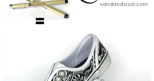 Doodle Your Style - Decorated Canvas Shoes. Create your own one of