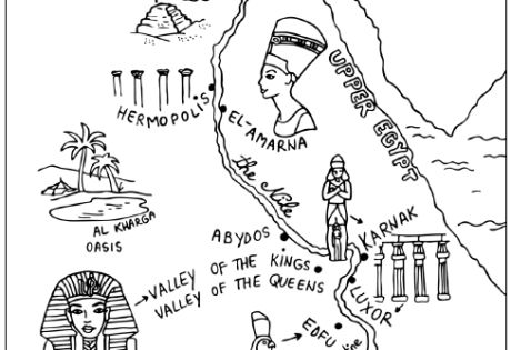ancient egypt maps coloring pages - photo#7