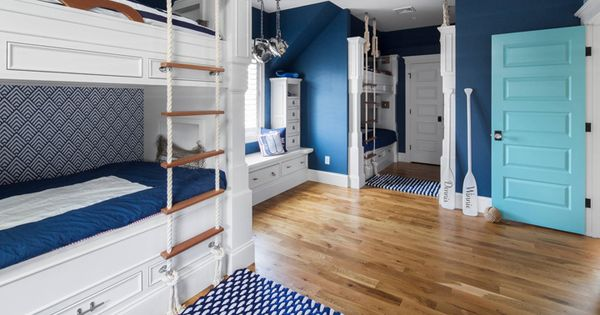 Blue nautical bunkroom gmt home designs bunk rooms for Gmt home designs