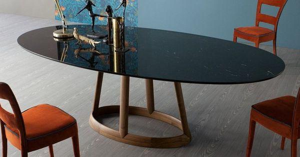 table salle manger plateau ovale en marbre design par bonaldo greeny d co pinterest. Black Bedroom Furniture Sets. Home Design Ideas