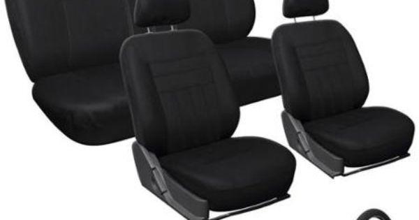 Oxgord Black 17 Piece Car Seat Cover Automotive Set