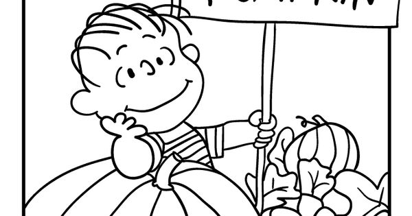linus great pumpkin coloring pages - photo#1