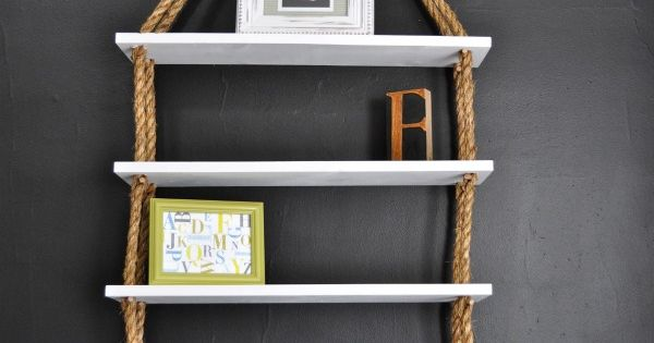 ReCreate: DIY Rope Shelves. Cute idea as a doll house!