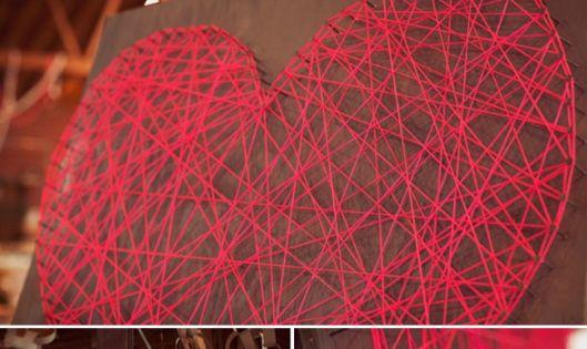 DIY string heart dyi stringheart