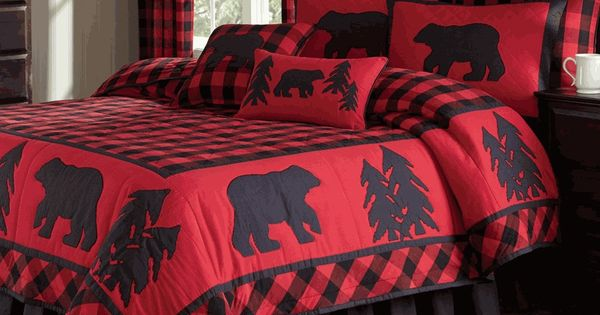 Black Bear Retreat Quilt Bedding | Cabin Bedding ...