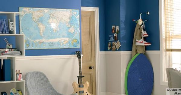 Dulux children 39 s rooms using blue with neutral toddler for Dulux boys bedroom ideas
