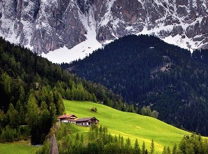 Mountain Village, Val di Funes, Italy Travel Places