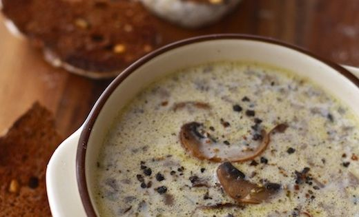 Homemade Mushroom Soup by Season with Spice Serves 2 as appetizer Ingredients: