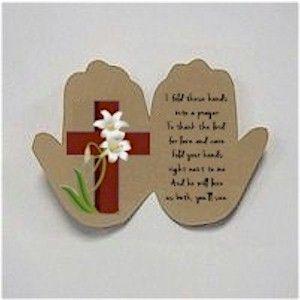 Handprint Easter Prayer Easter Prayers Easter Crafts For Kids