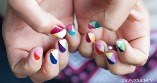3 triangles nail design