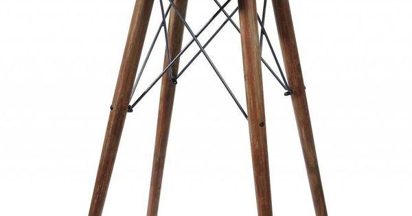 Table haute de bar style usine en bois et m tal noir - Dessus de comptoir de cuisine pas cher ...
