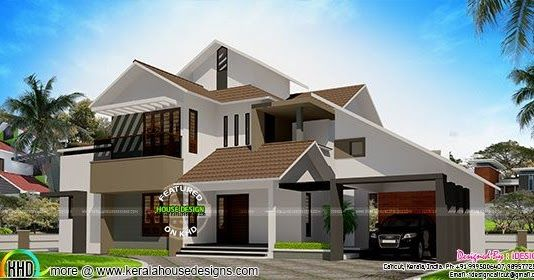 50 Lakhs Cost Estimated Modern Home In 2020 Kerala House