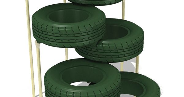 Tire climber outdoor paint for Tire play structure