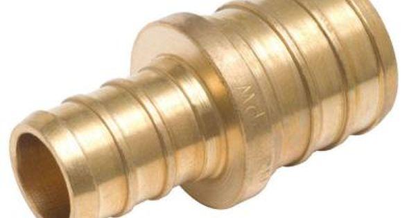 In brass pex barb reducer coupling