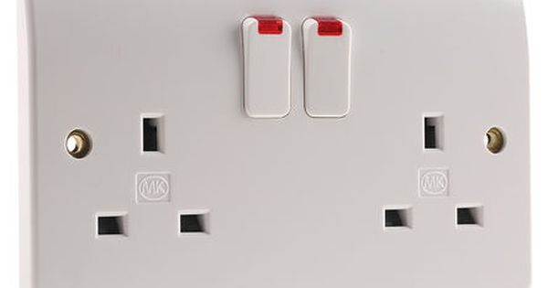 Mk Electric Mk White 2 Gang Plug Socket 2 Poles 13a Type G British In 2020 Plugs Electronics Components Home Projects