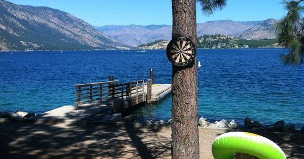 Campsite on Lake Chelan in Washington State