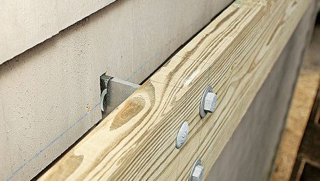 Brackets Are An Option The Maine Deck Bracket Is An Alternative Method Of Attaching A Deck Ledger And Works With Building A House Building A Deck Deck Remodel