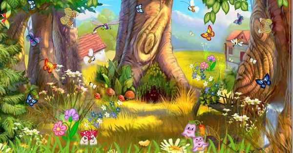 Fondos para murales infantiles nina pinterest mural for Murales infantiles nina