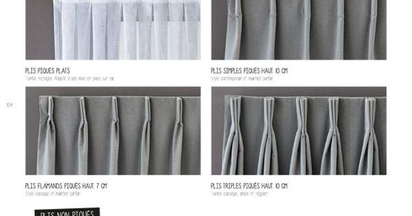Choisir sa t te de rideau heytens pinteres - Rideaux madura catalogue ...