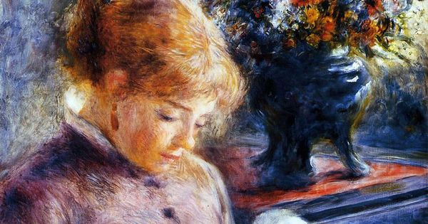 pierre auguste renoir young woman sewing painting