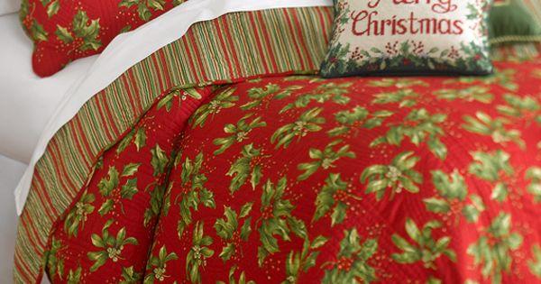 C Mistletoe Amp Holly Quilt Set Belk Bedding Holidays A